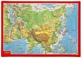 Reliefpostkarte Asien
