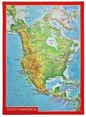 Reliefpostkarte Nordamerika
