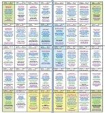 Häuserschablone zur großen Tafel 8x4 (5) für 36 oder auch 40 Lenormandkarten