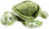 Heunec 260573 - Bottle 2 Buddy Schildkröte grün, Stofftier, Plüschtier, 30 cm