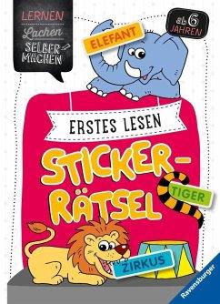 Erstes Lesen Sticker-Rätsel (Mängelexemplar) - Jebautzke, Kirstin