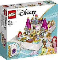 LEGO® Disney Princess 43193 Märchenbuch Abenteuer mit Arielle, Belle, Cinderella und Tiana