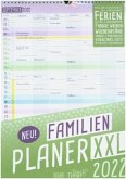 FamilienPlaner XXL 2022 Wand-Kalender 7-spaltig 12 MONATE