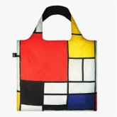 LOQI Bag, PIET MONDRIAN, Composition with Red, Yellow, Blue and Black, Recycled
