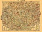 Historische Karte: LAND THÜRINGEN vom 1. Oktober 1923