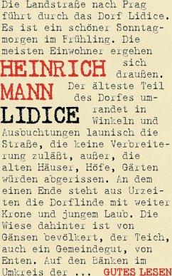 Lidice (eBook, ePUB)