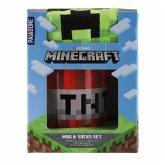 Minecraft Becher und Socken Set