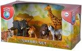 Simba 104322484 - Safari Wildtiere Set, Löwe, Tiger, Elefant, Zebra, Giraffe