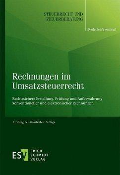 Rechnungen im Umsatzsteuerrecht (eBook, PDF) - Radeisen, Rolf-Rüdiger; Zaumseil, Peter
