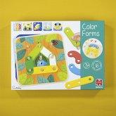 Jumbo 53474 - Farbformen, Color Forms, Lernspiel, Farben, Formen