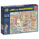 Jumbo 20041 - Jan van Haasteren, Das fehlende Puzzleteil, Comic-Puzzle, 1000 Teile