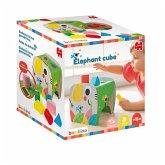 Jumbo 19806 - Elefantenwürfel, Lernspielzeug, Farben und Formen, Steckspiel