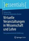 Virtuelle Veranstaltungen in Wissenschaft und Lehre (eBook, PDF)