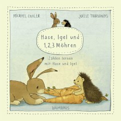 Hase, Igel und 1, 2, 3 Möhren (Pappbilderbuch) - Engler, Michael
