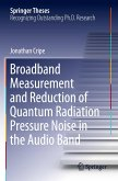 Broadband Measurement and Reduction of Quantum Radiation Pressure Noise in the Audio Band