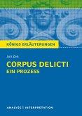 Corpus Delicti: Ein Prozess von Juli Zeh. Königs Erläuterungen. (eBook, PDF)