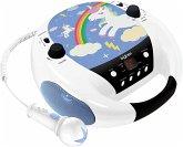 BigBen Kids, Tragbares Radio CD-Player CD52, mit Mikrofon, Unicorn/Einhorn