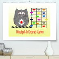 Rätselspaß für Kinder ab 4 Jahren/AT-Version (Premium, hochwertiger DIN A2 Wandkalender 2022, Kunstdruck in Hochglanz)