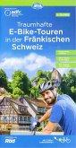 ADFC Traumhafte E-Bike-Touren in der Fränkischen Schweiz 1:75.000, reiß- und wetterfest, GPS-Tracks Download, mit Touren