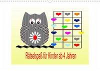 Rätselspaß für Kinder ab 4 Jahren/AT-Version (Wandkalender 2022 DIN A3 quer)