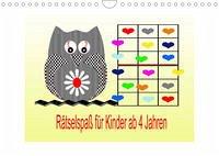 Rätselspaß für Kinder ab 4 Jahren (Wandkalender 2022 DIN A4 quer)