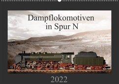 Dampflokomotiven in Spur N (Wandkalender 2022 DIN A2 quer)