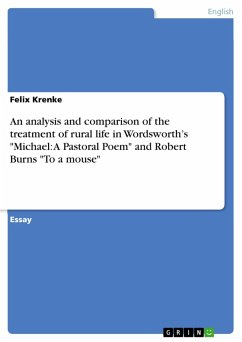 An analysis and comparison of the treatment of rural life in Wordsworth's