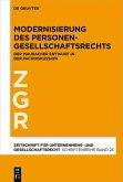 Modernisierung des Personengesellschaftsrechts (eBook, PDF)