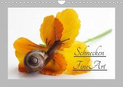 Schnecken FineArt (Wandkalender 2022 DIN A4 quer)