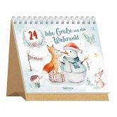 Trötsch Adventskalender 24 liebe Grüße aus dem Winterwald Aufstellkalender
