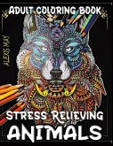 Adult Coloring Animals: Stress Reliever Adult Color Book with Animal Mandala