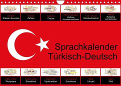 Sprachkalender Türkisch-Deutsch (Wandkalender 2022 DIN A4 quer)