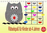 Rätselspaß für Kinder ab 4 Jahren (Tischkalender 2022 DIN A5 quer)