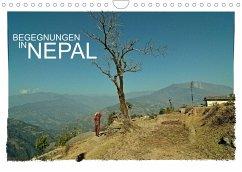 BEGEGNUNGEN IN NEPAL (Wandkalender 2022 DIN A4 quer)