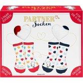 """Partner-Socken-Set """"Ich geb Dich nie mehr her"""", 2 Paar Socken (Größe 36-40 und Größe 41-46)"""