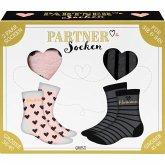 """Partner-Socken-Set """"Herzfrau, Herzmann"""", 2 Paar Socken (Größe 36-40 und Größe 41-46)"""