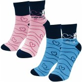 """Partner-Socken-Set """"Schön, dass es Dich gibt"""", 2 Paar Socken (Größe 36-40 und Größe 41-46)"""