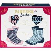 """Partner-Socken-Set """"Du & ich, wir gehören zusammen"""", 2 Paar Socken (Größe 36-40 und Größe 41-46)"""