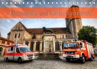 Feuerwehr und Rettungsdienst (Tischkalender 2022 DIN A5 quer)
