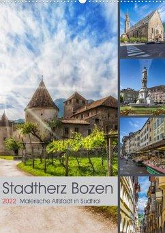 Stadtherz BOZEN (Wandkalender 2022 DIN A2 hoch)