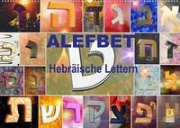 Alefbet Hebräische Lettern (Wandkalender 2022 DIN A2 quer)