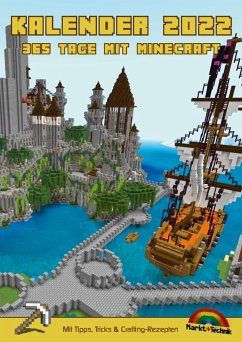 Kalender 2022 - 365 Tage mit Minecraft inklusive Tipps, Tricks & Crafting Rezepten im DIN A4 Format - Haberkamp, David