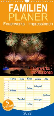 Feuerwerks - Impressionen - Familienplaner hoch (Wandkalender 2022 , 21 cm x 45 cm, hoch)