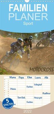 Motocross - Familienplaner hoch (Wandkalender 2022 , 21 cm x 45 cm, hoch)