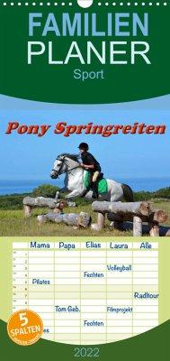Pony Springreiten (Wandkalender 2022 , 21 cm x 45 cm, hoch)