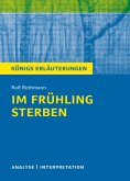 Im Frühling sterben von Ralf Rothmann