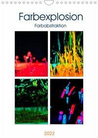 Farbenabstraktion Farbenexplosion (Wandkalender 2022 DIN A4 hoch)