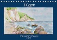 Rügen Impressionen in Aquarell (Tischkalender 2022 DIN A5 quer)