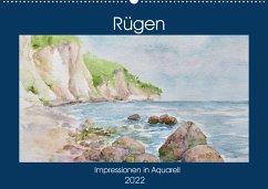 Rügen Impressionen in Aquarell (Wandkalender 2022 DIN A2 quer)