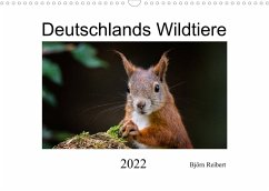 Deutschlands Wildtiere (Wandkalender 2022 DIN A3 quer)